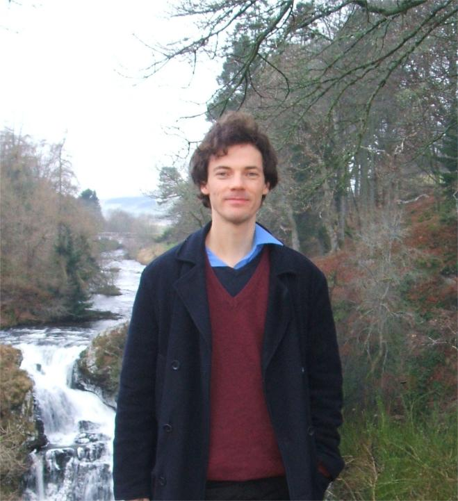 Marcus at Reekie Linn on River Isla